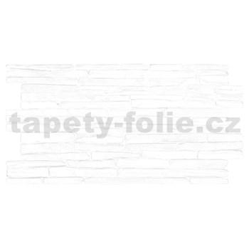 Obkladové 3D PVC panely rozměr 980 x 500 mm kámen bílý