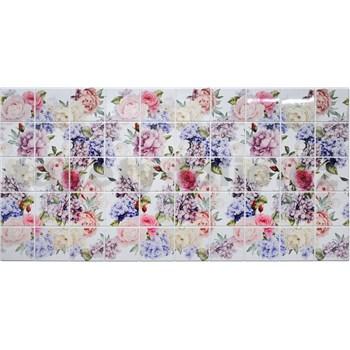 Obkladové 3D PVC panely rozměr 964 x 484 mm květy hortenzie - POSLEDNÍ KUSY