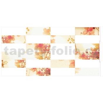 Obkladové 3D PVC panely rozměr 955 x 480 mm květy - POSLEDNÍ KUSY