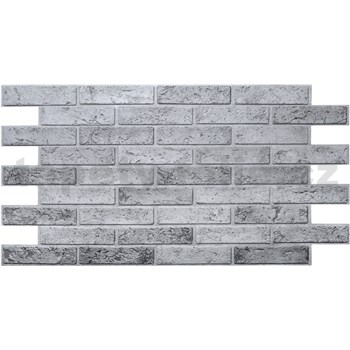 Obkladové 3D PVC panely rozměr 962 x 499 mm cihla šedá