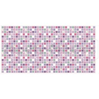 Obkladové 3D PVC panely rozměr 960 x 480 mm mozaika šeříková