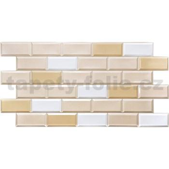 Obkladové 3D PVC panely rozměr 955 x 480 mm obklad hnědo-bílý