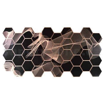 Obkladové 3D PVC panely rozměr 973 x 492 mm, tloušťka 0,2 mm, 3D Gravity