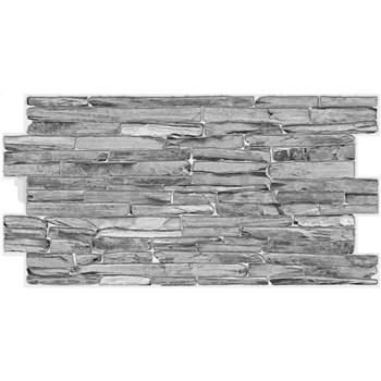 Obkladové 3D PVC panely rozměr 980 x 500 x 0,3 mm kámen šedý