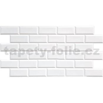 Obkladové 3D PVC panely rozměr 966 x 484 mm obklad bílý matný