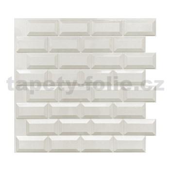 Obkladové 3D PVC panely rozměr 595 x 560 mm, tloušťka 0,6mm, METRO 3D
