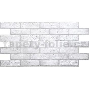 Obkladové 3D PVC panely rozměr 971 x 489 mm, tloušťka 0,4mm, cihla světle šedá