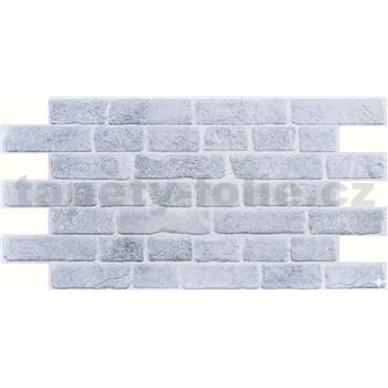 Obkladové 3D PVC panely rozměr 951 x 495 mm, tloušťka 0,4mm, cihla retro šedá