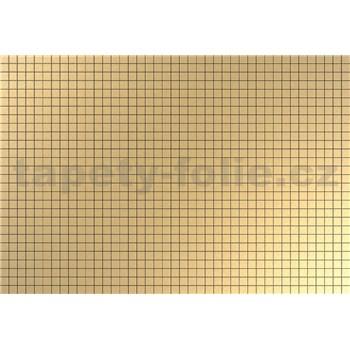 Obkladové 3D PVC panely rozměr 944 x 645 mm, tloušťka 0,6mm, obklad zlatá mozaika s černou spárou