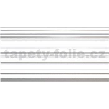Obkladové 3D PVC panely rozměr 957 x 480 mm, tloušťka 0,4mm, pruhy šedo-bílé s glittrem