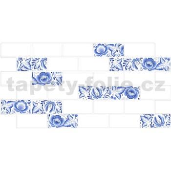 Obkladové 3D PVC panely rozměr 966 x 484 mm obklad Metrostyl s dekorem cibulák