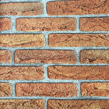 Papírové tapety na zeď cihla oranžová