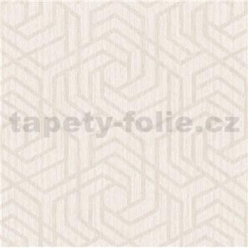 Vliesové tapety na zeď IMPOL Viola skandinávský vzor krémový