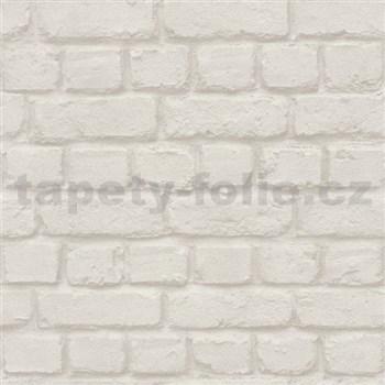 Vliesové tapety na zeď Metal Spirit cihla světle hnědá