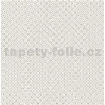 Vliesové tapety na zeď Collection 2 kružnice stříbrné na šedém podkladu