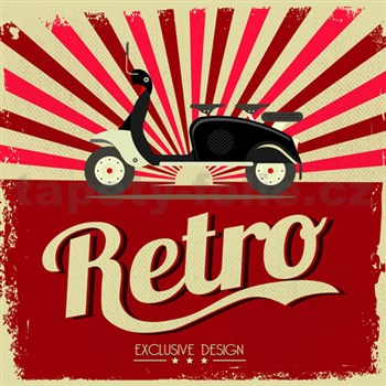 Retro cedule Retro Motorcycle 30 x 30 cm