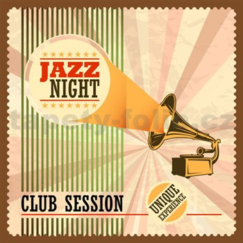 Retro cedule Jazz Night 30 x 30 cm