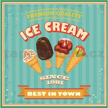Retro cedule Ice Cream 30 x 30 cm