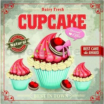 Retro cedule Cupcake 30 x 30 cm