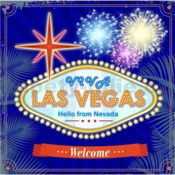Retro cedule Las Vegas 30 x 30 cm