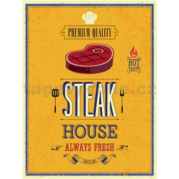Retro cedule Steak House 40 x 30 cm
