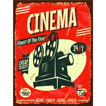 Retro cedule Cinema 40 x 30 cm
