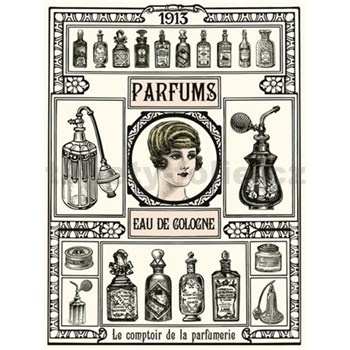 Retro cedule Parfums 40 x 30 cm