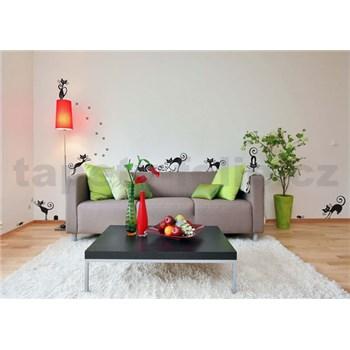 Samolepky na zeď černé kočky