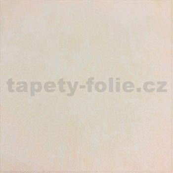 Vliesové tapety na zeď Seasons jednobarevné krémové s textilní strukturou