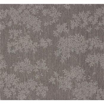 Vliesové tapety na zeď Sinfonia květy tmavě šedé