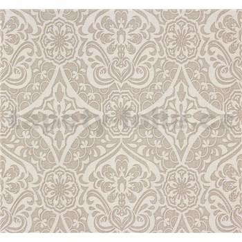 Vliesové tapety na zeď Sinfonia ornament světle hnědý