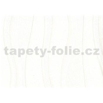 Vliesová tapeta - bílé vlnovky - SLEVA