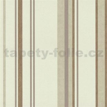 Vliesové tapety na zeď Spotlight - pruhy hnědé