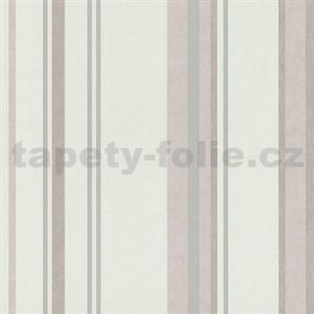 Vliesové tapety na zeď Spotlight - pruhy růžovo-šedé