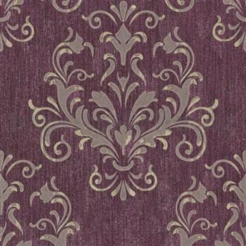 Luxusní vliesové tapety na zeď Spotlight II zámecký vzor tmavě růžový - POSLEDNÍ KUSY