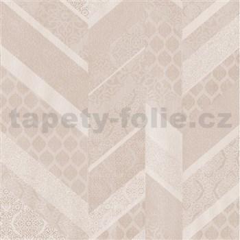 Vliesové tapety na zeď Spotlight II drobné kašmírové vzory tvořené do pruhů narůžovělé