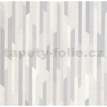 Vliesové tapety na zeď Spotlight 2 pásky béžové/zlaté/měděné - POSLEDNÍ KUSY