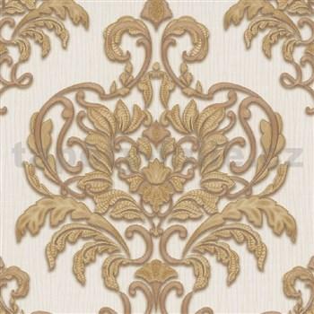 Vliesové tapety na zeď IMPOL Spotlight 3 zámecký vzor zlatý na krémovém podkladu
