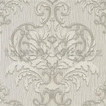 Vliesové tapety na zeď IMPOL Spotlight 3 zámecký vzor bílo-šedý
