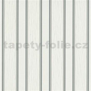 Vliesové tapety na zeď IMPOL Spotlight 3 pruhy šedo-stříbrné