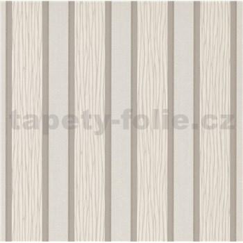 Vliesové tapety na zeď IMPOL Spotlight 3 pruhy bílo-šedé