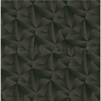 Vliesové tapety na zeď IMPOL Spotlight 3 jehlany 3D černé s metalickými odlesky