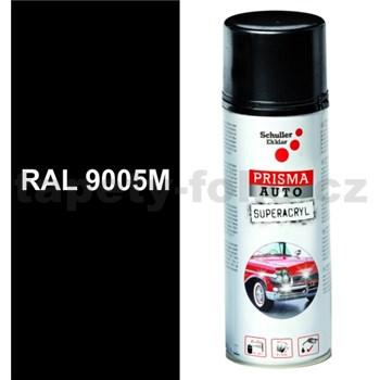 Sprej AUTO SUPERACRYL 400ml RAL 9005M barva černá matná