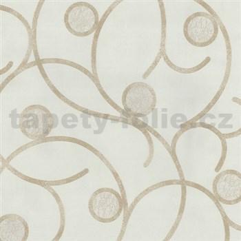 Vliesové tapety na zeď Studio Line - Magic Circles - světle hnědé na krémovém podkladu