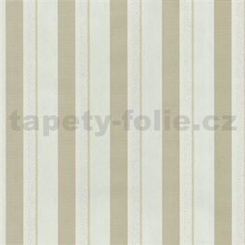 Vliesové tapety na zeď Studio Line - Magic Circles pruhy světle hnědé