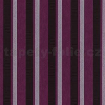 Vliesové tapety na zeď Studio Line - Magic Circles pruhy fialovo-hnědé