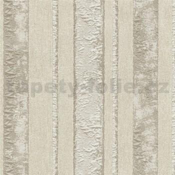Vliesové tapety na zeď Studio Line - Opulent pruhy hnědé se třpytem