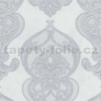 Vliesové tapety na zeď Studio Line - Graceful zámecký vzor bílo-šedý se třpytem