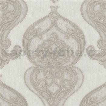 Vliesové tapety na zeď Studio Line - Graceful zámecký vzor světle hnědý se třpytem
