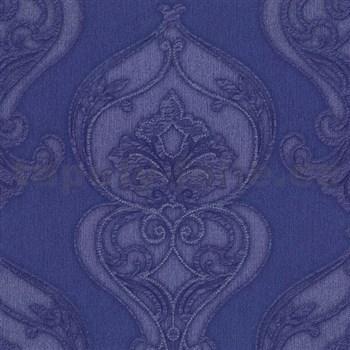 Luxusní vliesové tapety na zeď Studio Line - Graceful zámecký vzor modrý se třpytem - AKCE